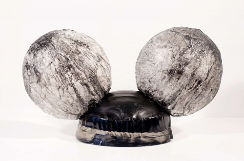 Happy 75th Birthday Mickey Mouse 2015 polyester resin indian ink on transparent paper varnish 39 x 22 x 17cm